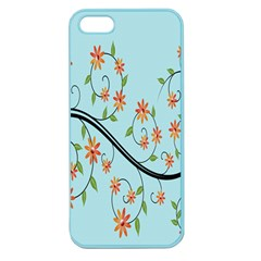 Branch Floral Flourish Flower Apple Seamless Iphone 5 Case (color)