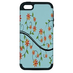 Branch Floral Flourish Flower Apple Iphone 5 Hardshell Case (pc+silicone)