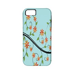 Branch Floral Flourish Flower Apple Iphone 5 Classic Hardshell Case (pc+silicone) by Nexatart