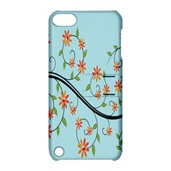 Branch Floral Flourish Flower Apple Ipod Touch 5 Hardshell Case With Stand by Nexatart