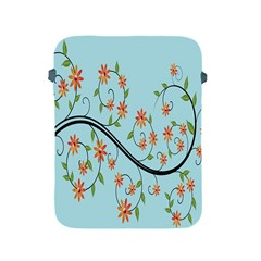 Branch Floral Flourish Flower Apple Ipad 2/3/4 Protective Soft Cases by Nexatart