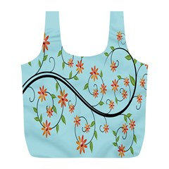Branch Floral Flourish Flower Full Print Recycle Bags (l)