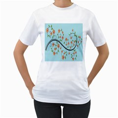 Branch Floral Flourish Flower Women s T Shirt (white)