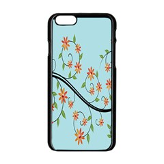 Branch Floral Flourish Flower Apple Iphone 6/6s Black Enamel Case