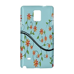 Branch Floral Flourish Flower Samsung Galaxy Note 4 Hardshell Case by Nexatart