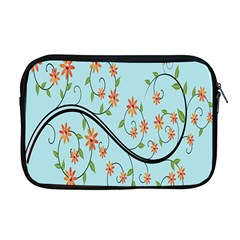 Branch Floral Flourish Flower Apple Macbook Pro 17  Zipper Case