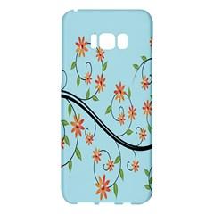 Branch Floral Flourish Flower Samsung Galaxy S8 Plus Hardshell Case  by Nexatart