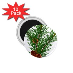 Branch Floral Green Nature Pine 1 75  Magnets (10 Pack)