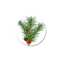 Branch Floral Green Nature Pine Golf Ball Marker by Nexatart