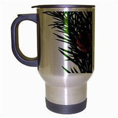 Branch Floral Green Nature Pine Travel Mug (silver Gray) by Nexatart