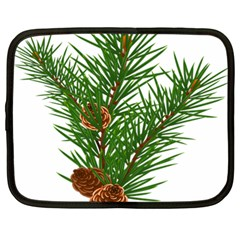 Branch Floral Green Nature Pine Netbook Case (large)