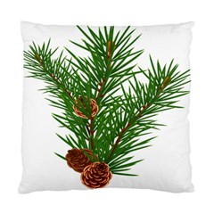 Branch Floral Green Nature Pine Standard Cushion Case (one Side)