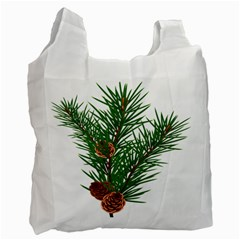 Branch Floral Green Nature Pine Recycle Bag (one Side) by Nexatart