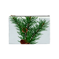 Branch Floral Green Nature Pine Cosmetic Bag (medium)  by Nexatart