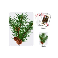 Branch Floral Green Nature Pine Playing Cards (mini)  by Nexatart