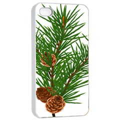 Branch Floral Green Nature Pine Apple Iphone 4/4s Seamless Case (white)