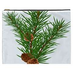 Branch Floral Green Nature Pine Cosmetic Bag (xxxl)  by Nexatart