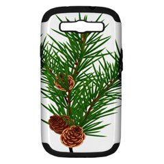 Branch Floral Green Nature Pine Samsung Galaxy S Iii Hardshell Case (pc+silicone) by Nexatart