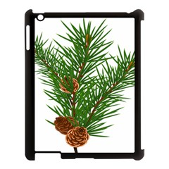 Branch Floral Green Nature Pine Apple Ipad 3/4 Case (black)
