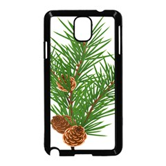 Branch Floral Green Nature Pine Samsung Galaxy Note 3 Neo Hardshell Case (black)