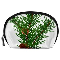 Branch Floral Green Nature Pine Accessory Pouches (large)  by Nexatart