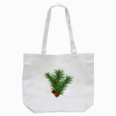 Branch Floral Green Nature Pine Tote Bag (white) by Nexatart