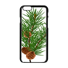 Branch Floral Green Nature Pine Apple Iphone 6/6s Black Enamel Case by Nexatart