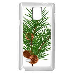 Branch Floral Green Nature Pine Samsung Galaxy Note 4 Case (white)
