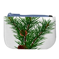 Branch Floral Green Nature Pine Large Coin Purse by Nexatart