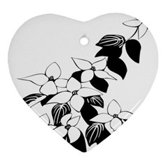 Ecological Floral Flowers Leaf Ornament (heart)
