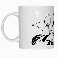 Ecological Floral Flowers Leaf White Mugs by Nexatart