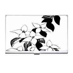 Ecological Floral Flowers Leaf Business Card Holders by Nexatart