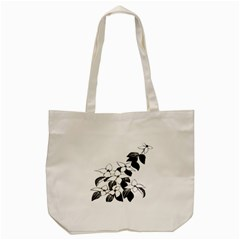 Ecological Floral Flowers Leaf Tote Bag (cream) by Nexatart
