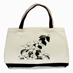 Ecological Floral Flowers Leaf Basic Tote Bag