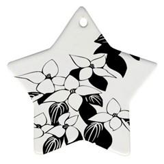 Ecological Floral Flowers Leaf Star Ornament (two Sides)