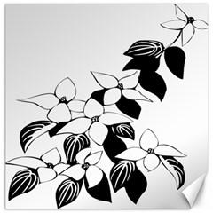 Ecological Floral Flowers Leaf Canvas 20  X 20