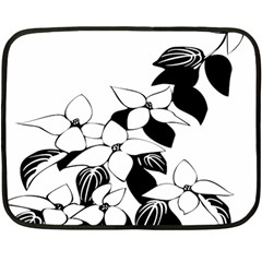 Ecological Floral Flowers Leaf Double Sided Fleece Blanket (mini)  by Nexatart