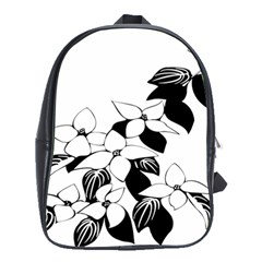 Ecological Floral Flowers Leaf School Bags(large)