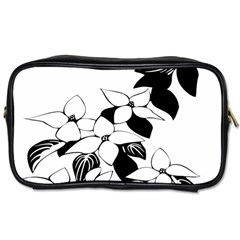 Ecological Floral Flowers Leaf Toiletries Bags 2 Side