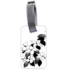 Ecological Floral Flowers Leaf Luggage Tags (one Side)