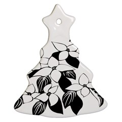 Ecological Floral Flowers Leaf Christmas Tree Ornament (two Sides)