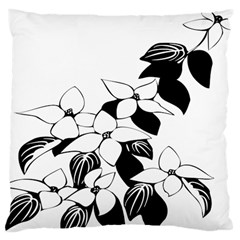 Ecological Floral Flowers Leaf Large Cushion Case (one Side) by Nexatart