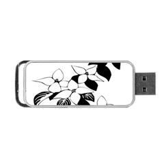 Ecological Floral Flowers Leaf Portable Usb Flash (two Sides) by Nexatart