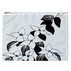 Ecological Floral Flowers Leaf Cosmetic Bag (xxl)  by Nexatart