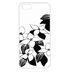 Ecological Floral Flowers Leaf Apple Iphone 5 Seamless Case (white) by Nexatart