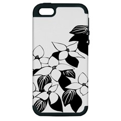 Ecological Floral Flowers Leaf Apple Iphone 5 Hardshell Case (pc+silicone) by Nexatart