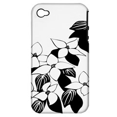 Ecological Floral Flowers Leaf Apple Iphone 4/4s Hardshell Case (pc+silicone) by Nexatart