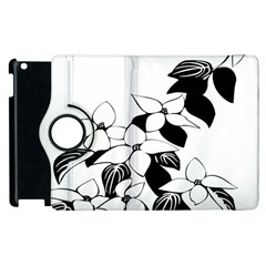 Ecological Floral Flowers Leaf Apple Ipad 3/4 Flip 360 Case by Nexatart