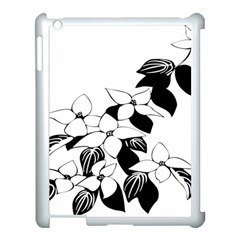 Ecological Floral Flowers Leaf Apple Ipad 3/4 Case (white) by Nexatart