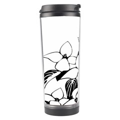 Ecological Floral Flowers Leaf Travel Tumbler by Nexatart